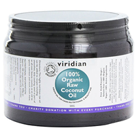 Viridian 100% Organic Virgin Raw Coconut Oil - 500g