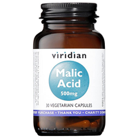 Viridian Malic Acid - 30 x 500mg Vegicaps