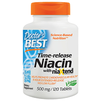 Real Niacin - As Nicotinic Acid - 120 x 500mg Tablets