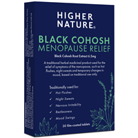 Black Cohosh Menopause Relief - 30 x 6.5mg Tablets