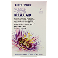 Passion Flower Relax Aid - 30 x 425mg Tablets