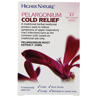 Pelargonium Cold Relief - 21 x 20mg Tablets