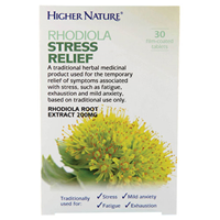 Rhodiola Stress Relief - 30 x 200mg Tablets - Best before date is 30th September 2017