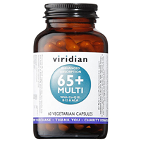 Viridian 65+ Multi Vitamins with Co-Q10 - 60 Vegicaps