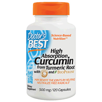 Doctors Best High Absorption Curcumin with BioPerine - 120 x 500mg Capsules
