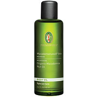 PRIMAVERA Organic Body Oil - Macadamia Nut Oil - 100ml - Best before date is 31st March 2018