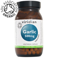 Viridian Organic Garlic - 500mg - 90 Vegicaps