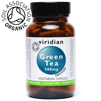 Viridian Organic Green Tea Leaf - 30 x 500mg Vegicaps