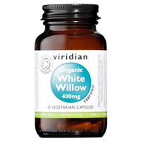 Viridian Organic White Willow - 30 x 400mg Vegicaps