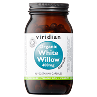 Viridian Organic White Willow - 90 x 400mg Vegicaps