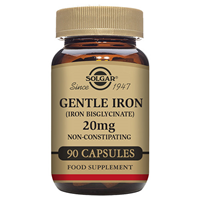 Solgar Gentle Iron - Bisglycinate - 90 x 20mg Vegicaps