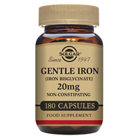 Solgar Gentle Iron - Bisglycinate - 180 x 20mg Vegicaps