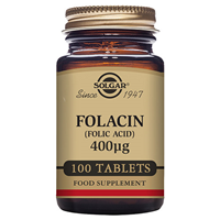 Solgar Folacin 400mcg - Folic Acid - 100 Vegan Tablets