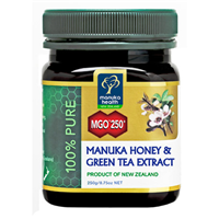 MGO 250+ Manuka Honey + Green Tea - 250g