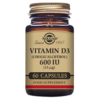 Solgar Vitamin D3 15mcg - 60 x 600iu Vegetable Capsules