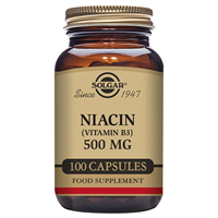 Solgar Niacin Vitamin B3 - 500mg - 100 Vegicaps