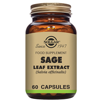Solgar Sage Leaf Extract - Food Supplement- 60 Vegicaps