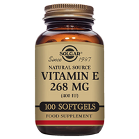 Solgar Vitamin E 268mg - 100 x 400iu Vegetable Softgels