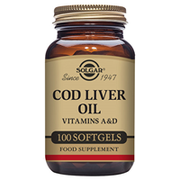 Solgar Cod Liver Oil - Vitamins -100 Softgels
