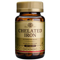 Solgar Chelated Iron - 100 Tablets