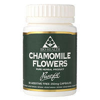 Chamomile Flowers - 60 x 250mg - Best before date is 31st May 2019