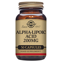 Solgar Alpha-Lipoic Acid - 50 x 200mg Vegicaps
