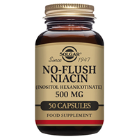 Solgar No-Flush Niacin 500mg - 50 Vegicaps