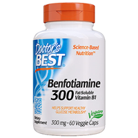 Doctors Best Benfotiamine 300 with BenfoPure - 60 x 300mg Vegicaps