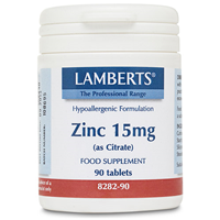 LAMBERTS Zinc 15mg (as Citrate) - 90 Tablets