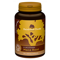 Rainforest Foods Organic Maca Root - 120 x 500mg Caps