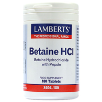 LAMBERTS Betaine HCl - 180 x 324mg Tablets
