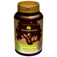Rainforest Foods Organic Wheatgrass - 140 x 500mg Caps