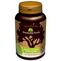 Rainforest Foods Barley & Wheatgrass - 140 x 500mg Caps  - Best before date is 30th November 2016