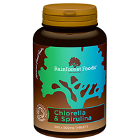 Rainforest Foods Chlorella & Spirulina-300 x 500mg Tabs