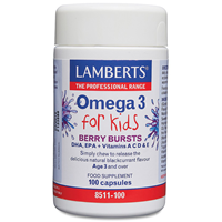 LAMBERTS Omega 3 for Kids - Berry Bursts - 100 Capsules