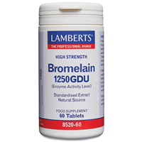 LAMBERTS Bromelain 1000GDU - High Strength - 60 Tablets
