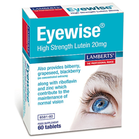 LAMBERTS Eyewise High Strength Lutein - 60 x 20mg Tablets