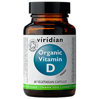 Organic Vitamin D 400iu - Organic Mushrooms-60 Vegicaps