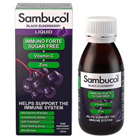 Sambucol Immuno Forte Sugar Free - Black Elderberry - 120ml