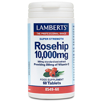 LAMBERTS Rosehip - 60 x 10,000mg Tablets