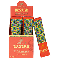 Aduna Baobab Fruit Pulp - 15 x 4.5g Sachets - Best before date is 28th February 2017