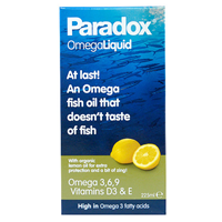 Paradox Omega 3-6-9 & Vitamin D3 - 225ml Liquid