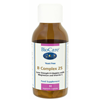 B Complex 25 - Low Strength B Vitamins - 30 Vegicaps