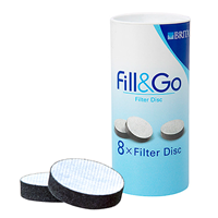 BRITA Fill & Go - Refill Filter Discs - 8 Pack