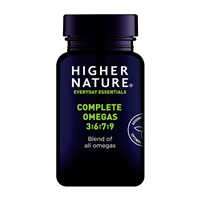 Higher Nature Complete Omegas 3-6-7-9 - 30 Capsules