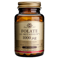 Solgar Folate 1000mcg - As Metafolin -120 Vegan Tablets