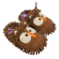 Aroma Home Fun for Feet - Fuzzy Slippers - Owl