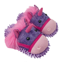 Aroma Home Fun for Feet - Fuzzy Slippers - Unicorn