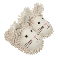 Aroma Home Fun for Feet - Fuzzy Slippers - White Rabbit