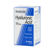 HealthAid Hyaluronic Acid - 30 x 55mg Vegan Tablets